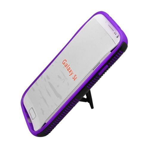 Insten Hard Hybrid Plastic TPU Case w/stand For Samsung Galaxy S4, Purple/Black