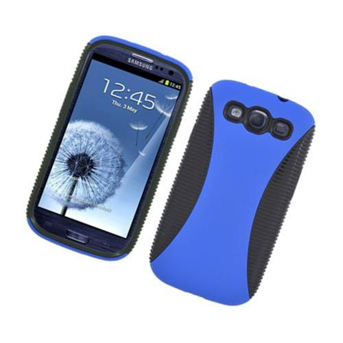 Insten Hard Dual Layer TPU Case For Samsung Galaxy S3, Blue/Black