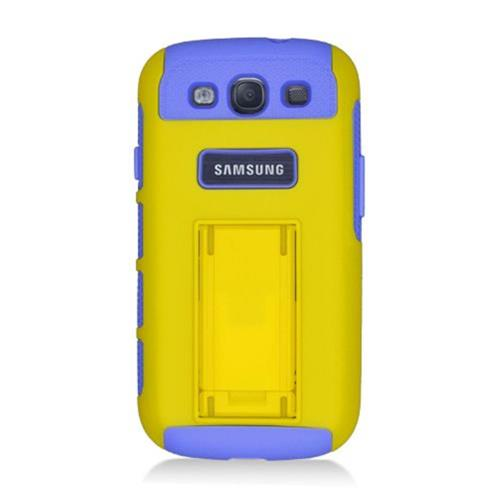 Insten Hard Hybrid TPU Case For Samsung Galaxy S3, Yellow/Purple