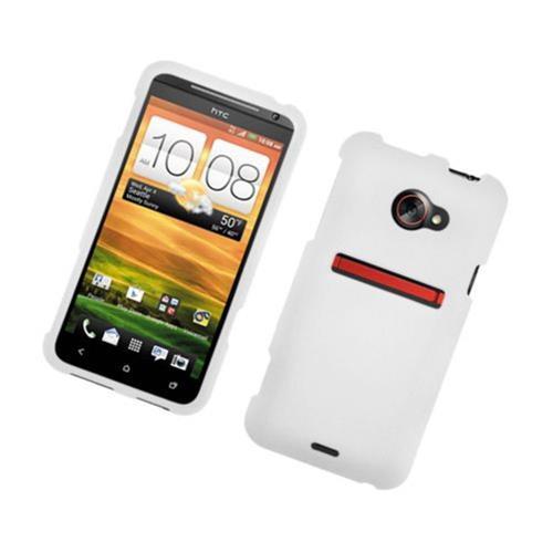 Insten Hard Rubberized Case For HTC EVO 4G LTE, White