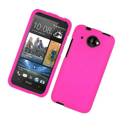 Insten Hard Rubber Coated Cover Case For HTC Desire 601, Hot Pink