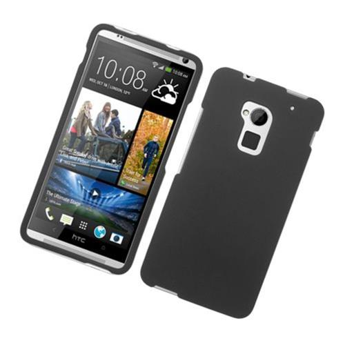Insten Hard Rubberized Case For HTC One Max, Black