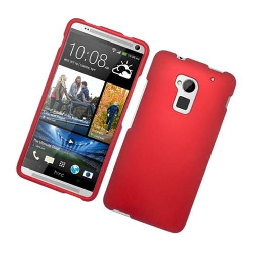 Insten Hard Rubber Case For HTC One Max, Red