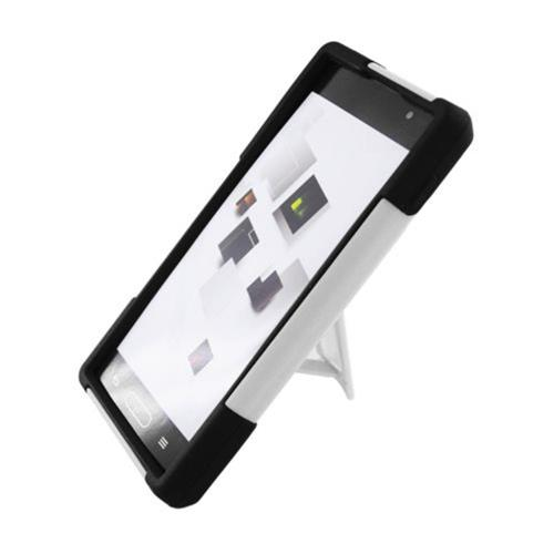 Insten Hard Hybrid Plastic Silicone Cover Case w/stand For LG Optimus L9 P769, White/Black