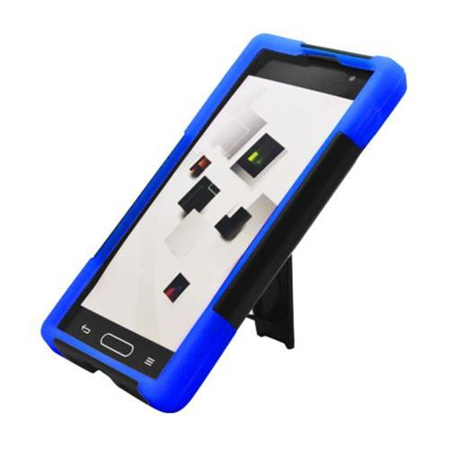 Insten Hard Dual Layer Plastic Silicone Case w/stand For LG Optimus L9 P769, Black/Blue