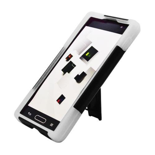 Insten Hard Hybrid Plastic Silicone Case w/stand For LG Optimus L9 P769, Black/White