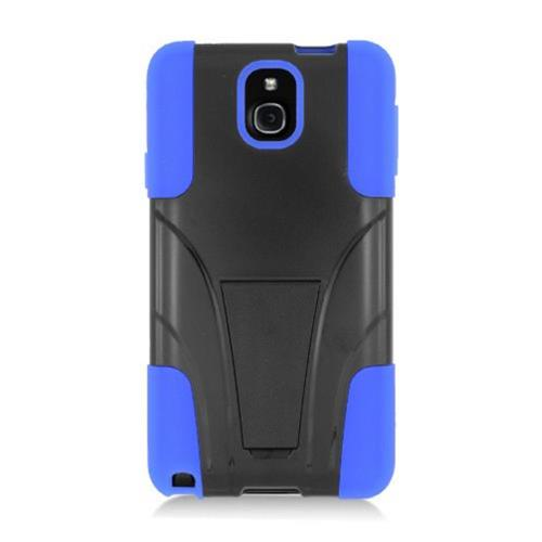 Insten Hard Hybrid Plastic Silicone Cover Case w/stand For Samsung Galaxy Note 3, Black/Blue