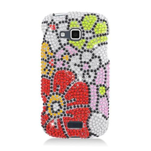 Insten Flowers Hard Bling Cover Case For Samsung ATIV Odyssey, Pink/Red