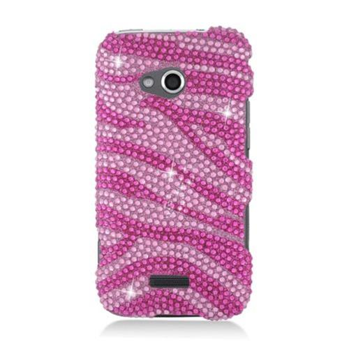 Insten Zebra Hard Bling Cover Case For Samsung Galaxy Victory 4G LTE, Hot Pink/Pink