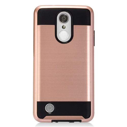 Insten Hard Hybrid TPU Cover Case For LG Aristo, Rose Gold/Black