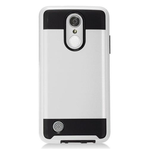 Insten Hard Dual Layer TPU Case For LG Aristo, Silver/Black