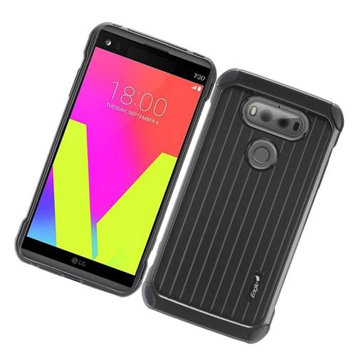 Insten Hard Hybrid Rubber Coated Silicone Case For LG V20, Black
