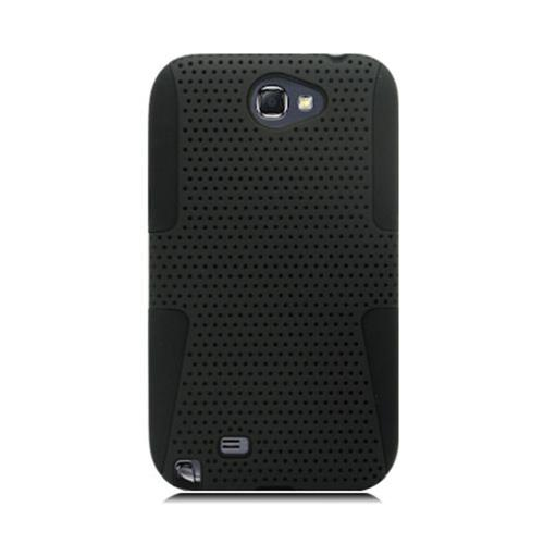 Insten Mesh Hard Dual Layer TPU Cover Case For Samsung Galaxy Note II, Black