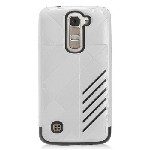 Insten Hard Hybrid TPU Cover Case For LG K7 Tribute 5, Silver/Black