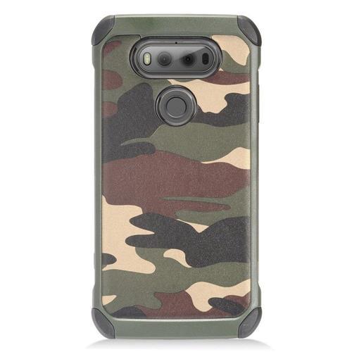 Insten Camouflage Hard Hybrid TPU Cover Case For LG V20, Green/Black