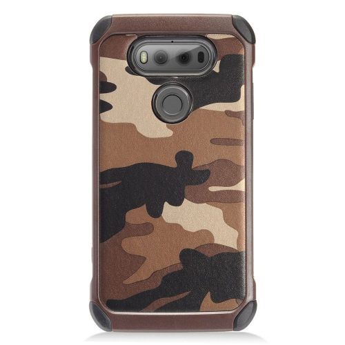 Insten Camouflage Hard Dual Layer TPU Case For LG V20, Brown/Black