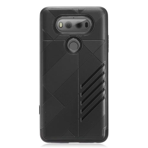 Insten Hard Dual Layer TPU Cover Case For LG V20, Black