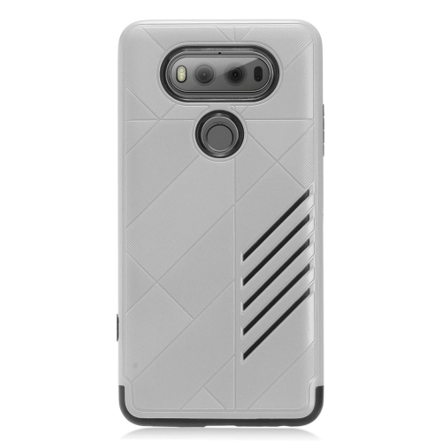 Insten Hard Dual Layer TPU Cover Case For LG V20, Gray/Black