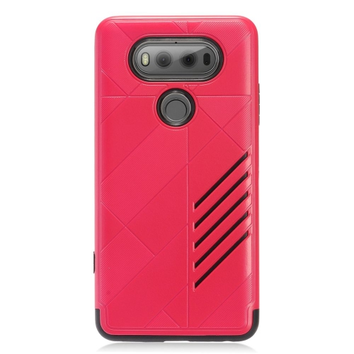 Insten Hard Hybrid TPU Case For LG V20, Hot Pink/Black