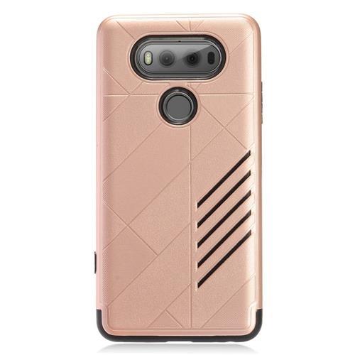 Insten Hard Hybrid TPU Case For LG V20, Rose Gold/Black