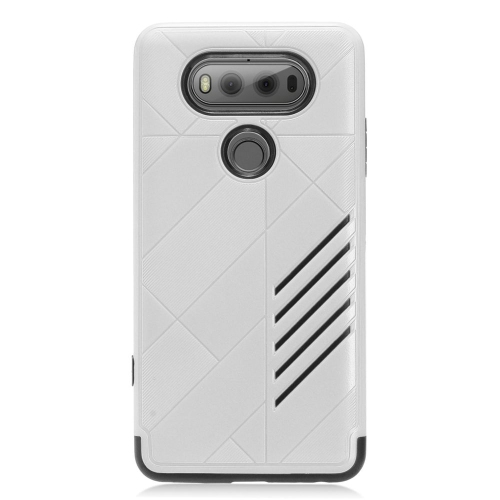 Insten Hard Hybrid TPU Case For LG V20, Silver/Black