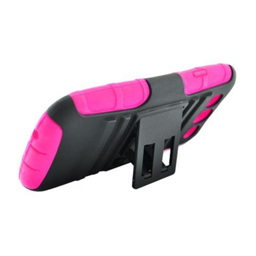 Insten Armor Hard Dual Layer Plastic Silicone Case w/stand For Samsung Galaxy S3, Hot Pink/Black