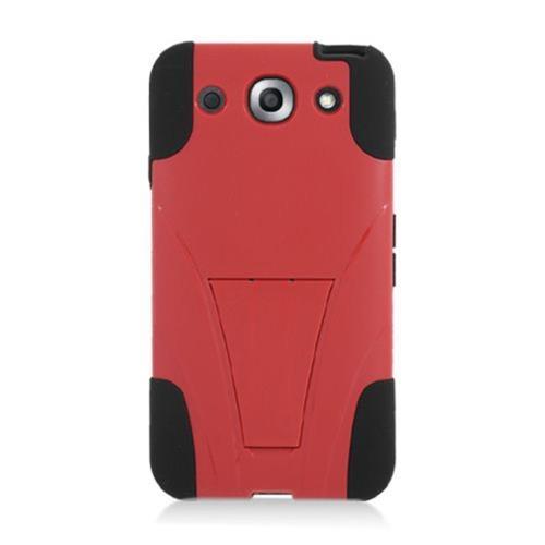 Insten Hard Hybrid Plastic Silicone Cover Case w/stand For LG Optimus G Pro E980, Red/Black