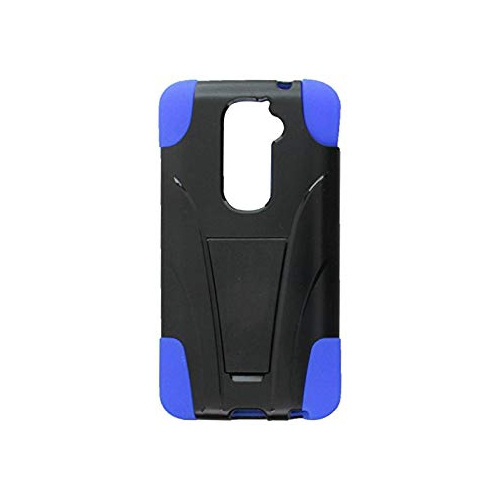 Insten Hard Hybrid Silicone Case w/stand For LG G2 D801 T-Mobile/G2 LS980 Sprint, Black/Blue