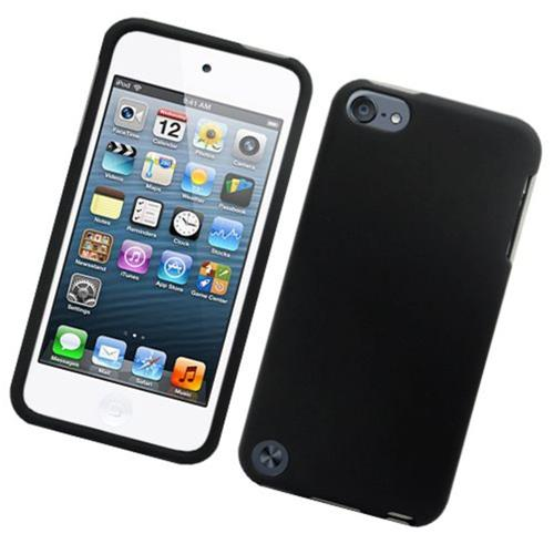 Insten Hard Rubber Coated Case For Apple iPod Touch 5th Gen, Black