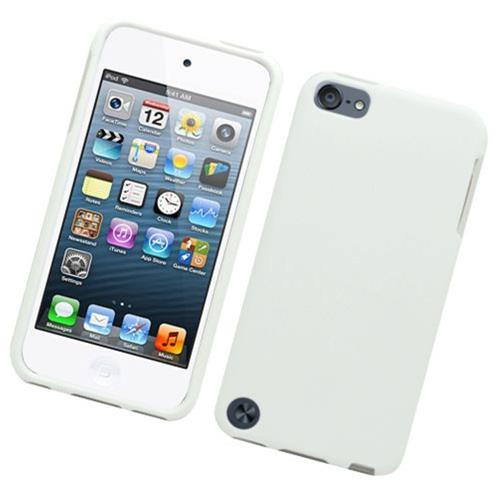 Insten Hard Rubber Coated Cover Case For Apple iPod Touch 5th Gen, White