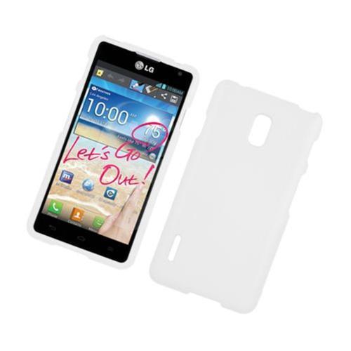 Insten Hard Rubber Coated Case For LG Optimus F7 US780 (US Cellular), White