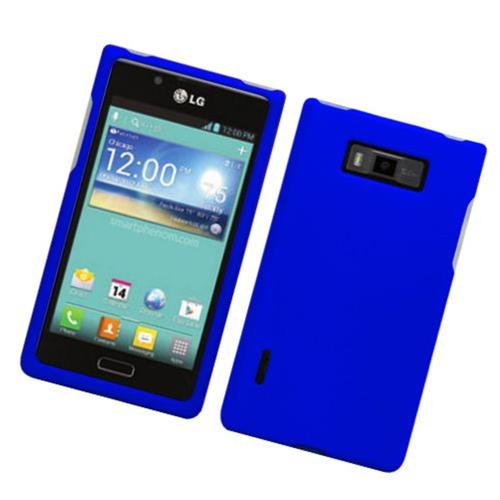 Insten Hard Rubberized Case For LG Splendor US730 / Venice LG730, Blue