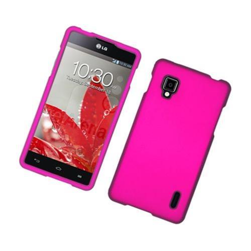 Insten Hard Rubber Coated Case For LG Optimus G LS970 Sprint, Hot Pink
