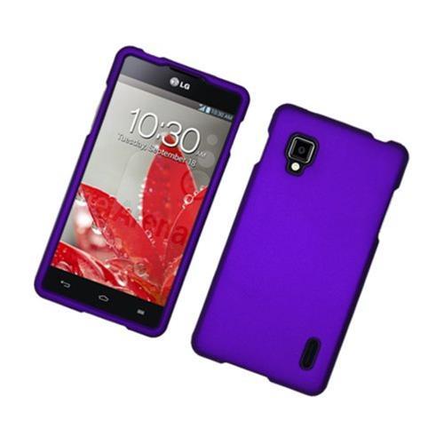 Insten Hard Rubberized Cover Case For LG Optimus G LS970 Sprint, Purple