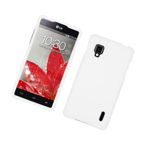 Insten Hard Rubber Cover Case For LG Optimus G LS970 Sprint, White