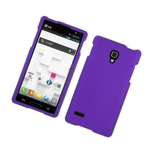 Insten Hard Rubber Cover Case For LG Optimus L9 P769, Purple