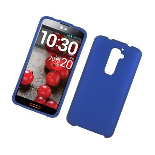Insten Hard Rubber Coated Case For LG G2 D800 AT&T, Blue