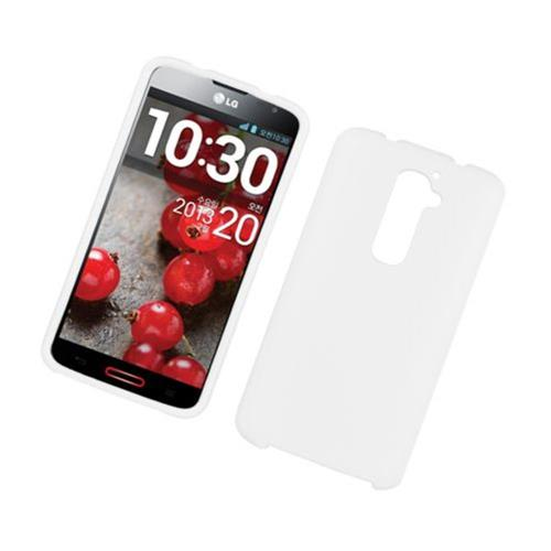 Insten Hard Rubber Coated Cover Case For LG G2 D800 AT&T, White