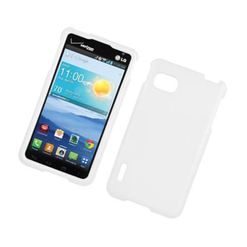 Insten Hard Rubber Case For LG Optimus F3 LS720, White