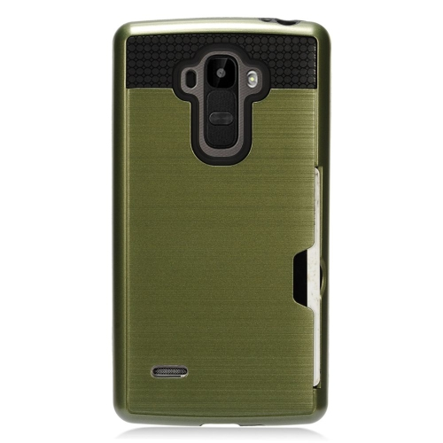 Insten Hard Dual Layer TPU Case For LG G Stylo LS770/G Vista 2, Green/Black