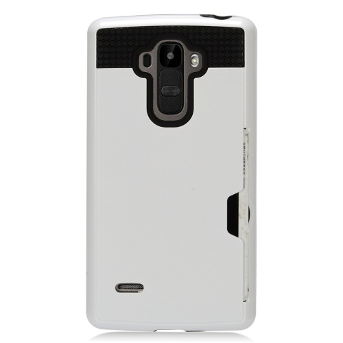 Insten Hard Dual Layer TPU Cover Case For LG G Stylo LS770/G Vista 2, White/Black