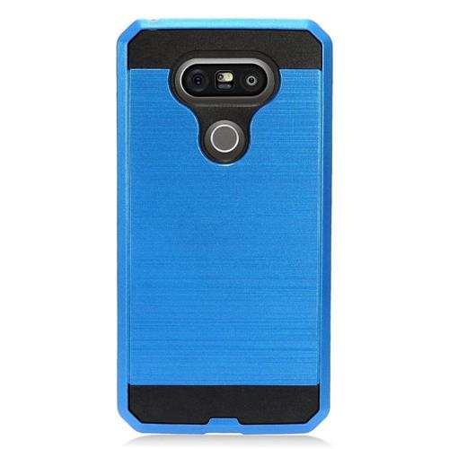 Insten Hard Hybrid TPU Case For LG G5, Blue/Black