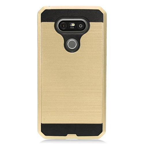 Insten Hard Dual Layer TPU Case For LG G5, Gold/Black