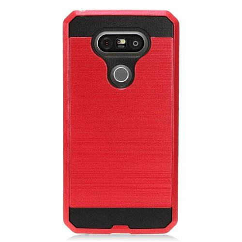 Insten Hard Dual Layer TPU Cover Case For LG G5, Black/Red