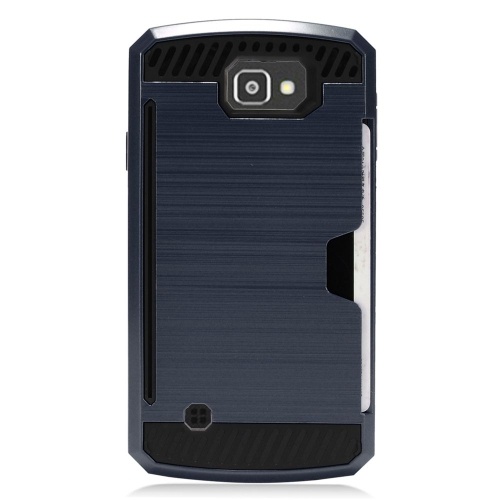 Insten Hard Dual Layer TPU Cover Case For LG Optimus Zone 3/Spree, Blue/Black