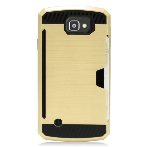 Insten Hard Hybrid TPU Case For LG Optimus Zone 3/Spree, Gold/Black