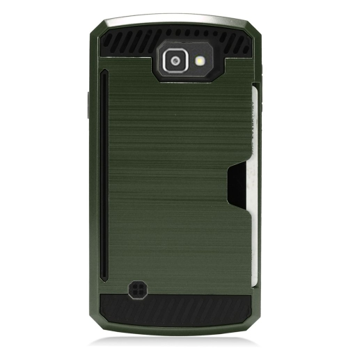 Insten Hard Hybrid TPU Case For LG Optimus Zone 3/Spree, Green/Black
