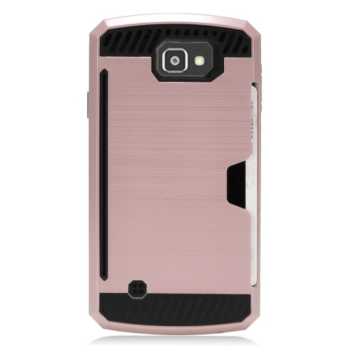 Insten Hard Hybrid TPU Case For LG Optimus Zone 3/Spree, Rose Gold/Black