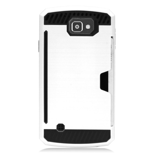 Insten Hard Hybrid TPU Case For LG Optimus Zone 3/Spree, White/Black