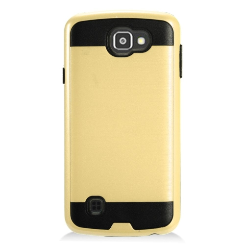 Insten Hard Dual Layer TPU Case For LG Optimus Zone 3/Spree, Gold/Black